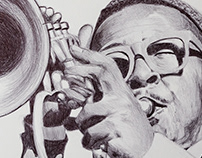 Remembering Roy Hargrove - a ballpoint series