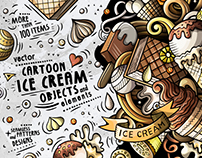 Ice Cream Cartoon Vector Pack