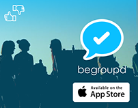 Begroupd group messaging app web advertisments
