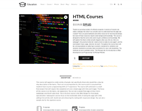 Single Course Post - Education WordPress Theme