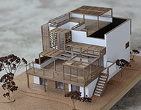 Wooden architecture model