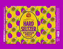 Brewery Twenty Five - Passion Fruit Hard Seltzer Label