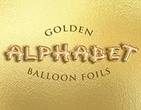 Golden Alphabet Balloon Foils Free Psd