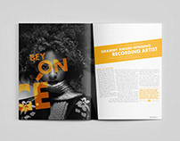 Beyonce On the Run Cd, Editorial, & Ad Designs