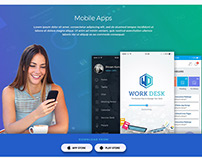 Work Desk Landing Page Design