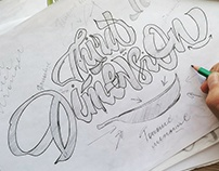Hand lettering logotypes. Sketches and process. Vol. 2