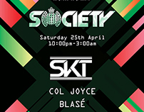 MOS Society  DJ SKT Poster - Box Nightclub