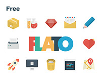 Free Flato vector icons set