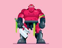 Flat design Warrior Character Deign