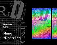 "Hong ""Da""zzling|Laser foil business card"