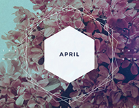 April 2017 Digital Calendar Wallpaper