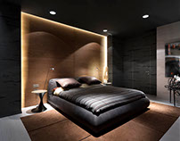 Apartment in Dark Colors by InCube