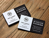 Window Cleaning Service Logo, Business Card, Mood Board