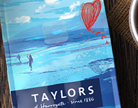 3D Taylors Coffee Bag Blends Imagery - Packaging