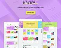 Maxify | Startup & Business Blog WordPress Theme