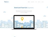 MyCat – Free Landing Page PSD