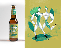 Package illustration for beverages labels