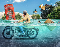Riding through water - Photoshop Creative Magazine 160
