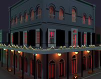 The Haunted Lalaurie Mansion at Halloween