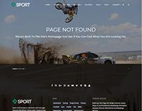 404 Page Template - Sport WordPress Theme