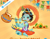 Happy Janmashtami Free Psd Download