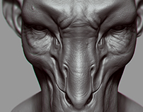 Deer Alien Sculpt