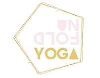Unfold Yoga logo and window display