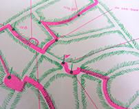 Map Soundwalk BNA-BBOT / Design Marijke Loozen / Riso