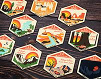 National Park Sticker Designs