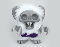 Goat Monster - Custom Handmade Toy Design & Invite