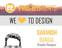 Preseed Prints Business Cards