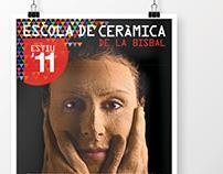 Poster escola de ceramica de la Bisbal