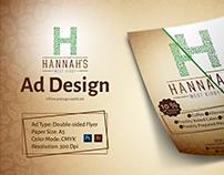 Ad Design - Hanna's