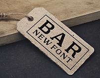 Bar Cap Font