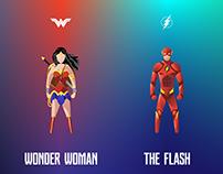 Justice League Minimal Fan Art