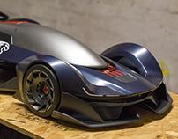 Jaguar GT-Vision C-X55 Hard Modeling Development