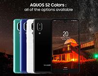 SHARP Aquos S2 Smartphone Website Concept