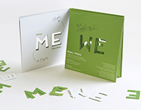 "When ""ME"" becomes ""WE"" wedding invitation"