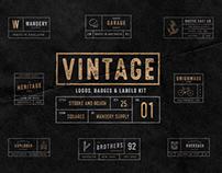 Vintage Badges Vol. 1 - Squares Collection