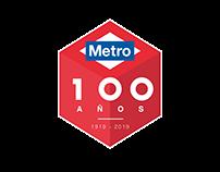 Propuestas para logotipo Metro de Madrid 100 años