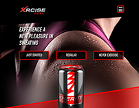 Sport drink 1-page website