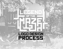 Legend of the maze logo design process
