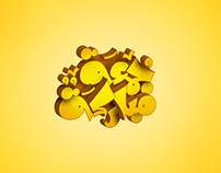 3D typography : Gomaa Mubarkah