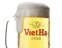 Chụp ảnh sản phẩm bia Việt Hà