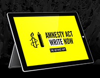 Amnesty International 'Act Write Now' Surface Pro App