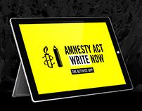 Amnesty International 'Act Write Now' Surface Pro App