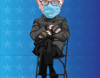 Bernie Sanders on Chair