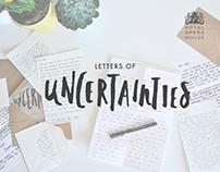 Letters of Uncertainties