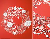 Christmas Wreath Papercut