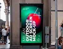 Milan Outdoor Advertising Screen Mock-Ups 4